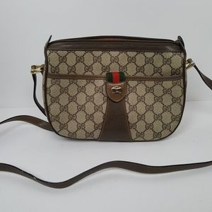 Gucci Brown and Tan Cross Body Bag